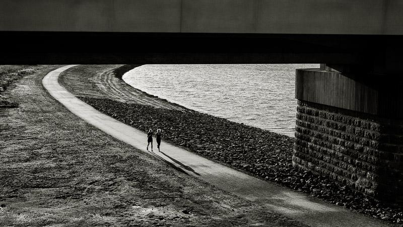 Spiegelwaal, Nijmegen, spoorbrug, hardlopen